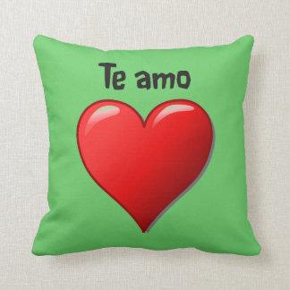 Te Amo - Liebe I Sie auf spanisch Kissen