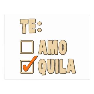 Te Amotequila-Spanisch-Wahl Postkarte