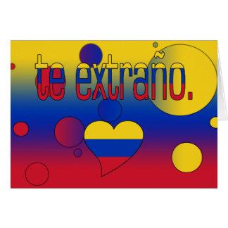 Te Extraño! Venezuela-Flagge färbt Pop-Kunst Karte