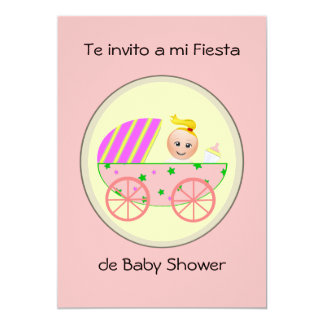 Te invito ein MI-Fiestade-Babyparty 12,7 X 17,8 Cm Einladungskarte