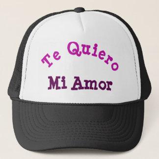 Te Quiero MI Amor Fernlastfahrer-Hut Truckerkappe