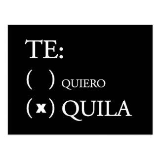 Te Quiero Tequila Postkarte