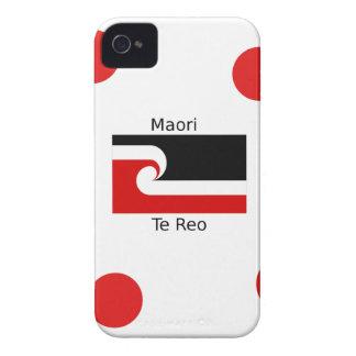 Te Reo Sprache und Maori- Flaggen-Entwurf iPhone 4 Etuis