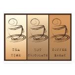 Tea Time, Hot Chocolate, Coffee Break Postkarte