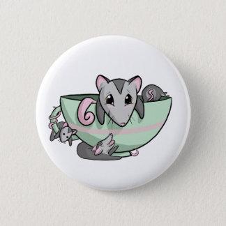 Teacup-Opossum! Runder Button 5,1 Cm