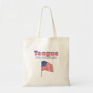 Teague für Kongress-patriotische amerikanische Fla Einkaufstasche