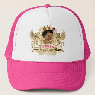 Team-afrikanischer Kronprinzessin-Babyparty-Hut Truckerkappe