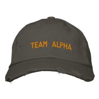 Team-Alpha-Hut Bestickte Baseballkappe