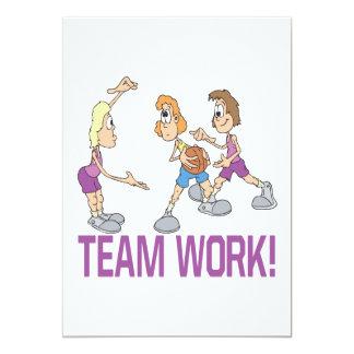 Team-Arbeit 12,7 X 17,8 Cm Einladungskarte