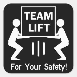 Team-Aufzug Quadratischer Aufkleber