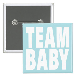 Team-Baby auf Blau Anstecknadelbutton