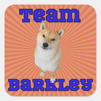 Team Barkley - quadratische Aufkleber, glatt Quadratischer Aufkleber
