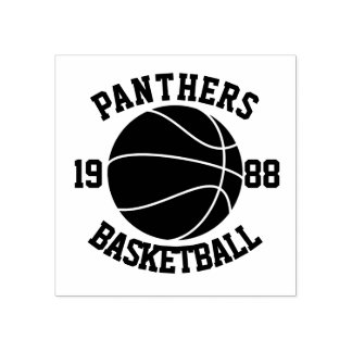 Team-Basketball Gummistempel