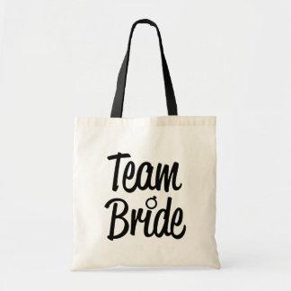 Team-Braut-Brautjungferntasche Schwarzes Tragetasche