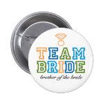 Team-Braut-Bruder-Knopf Buttons