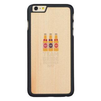 Team-Braut Brüssel 2017 Zfo9l Carved® Maple iPhone 6 Plus Hülle