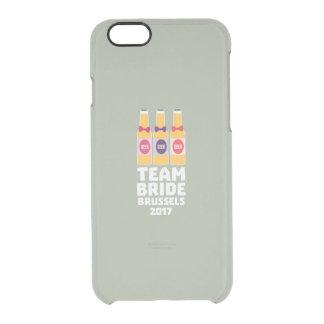 Team-Braut Brüssel 2017 Zfo9l Durchsichtige iPhone 6/6S Hülle