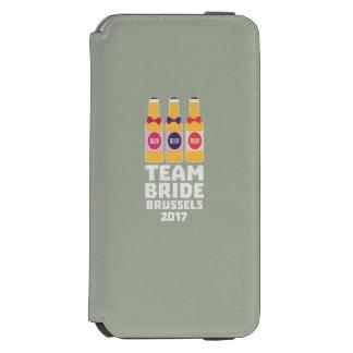 Team-Braut Brüssel 2017 Zfo9l Incipio Watson™ iPhone 6 Geldbörsen Hülle