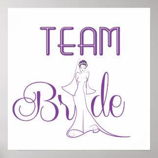 Team-Braut - extravagant Poster
