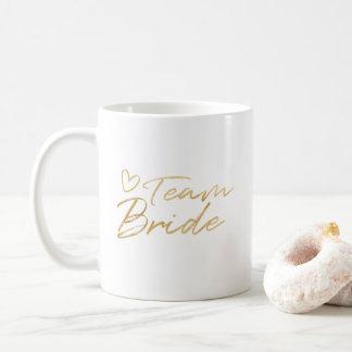 Team-Braut - GoldImitat-Folien-Tasse Kaffeetasse
