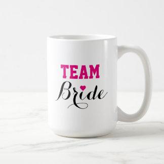 Team-Braut-heißes Kaffeetasse