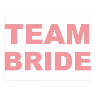 Team-Braut-Hochzeits-Henne-Party Postkarten