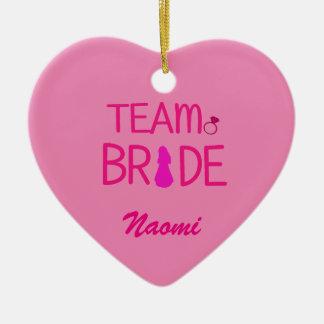 Team-Braut - Keramik Herz-Ornament