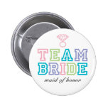 Team-Braut-Knopf Buttons