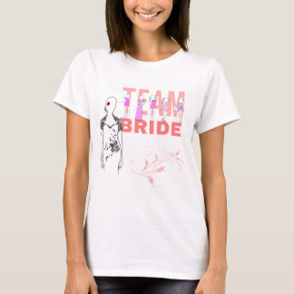 Team-Braut lustig, elegant, Rosa T-Shirt