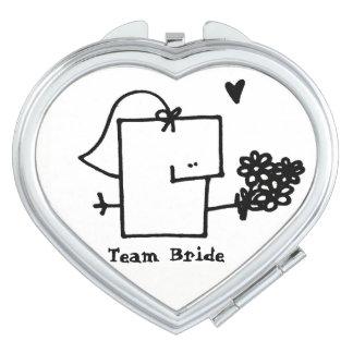 Team-Braut Meepple kompakter Spiegel Taschenspiegel