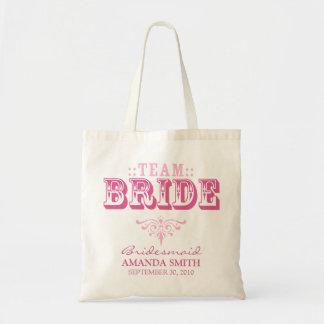 TEAM-BRAUT personalisierte Hochzeits-Party-Tasch