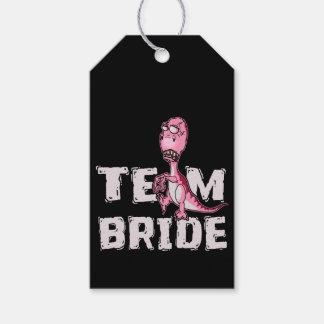 Team-Braut-Rosa-Dinosaurier-Brautparty Geschenkanhänger