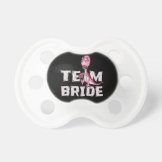 Team-Braut-Rosa-Dinosaurier-Brautparty Schnuller