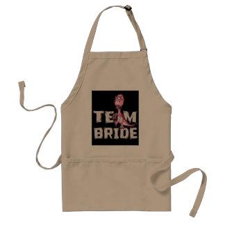 Team-Braut-Rosa-Dinosaurier-Brautparty Schürze