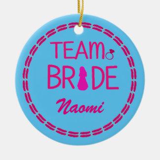 Team-Braut - Rundes Keramik Ornament
