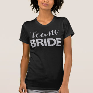 Team-Braut-Shirt-silberner Junggeselinnen-Abschied T-Shirt