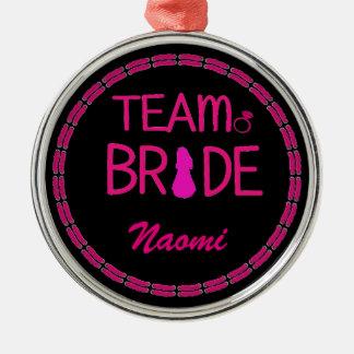 Team-Braut - Silbernes Ornament