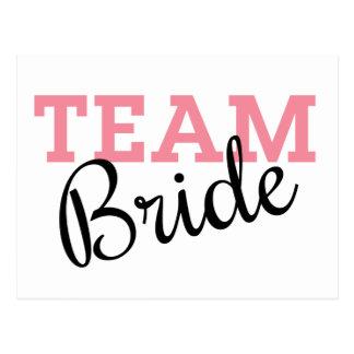 Team-Braut-Skript Postkarte
