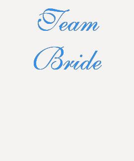 Team-Braut-T-Stück Hemden