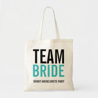Team-Braut-Türkis-Junggeselinnen-Abschied Tragetasche