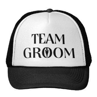 Team-Bräutigam - lustiger Junggeselle-Party-Hut Baseballkappen