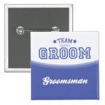 Team Bräutigam-Trauzeuge (Sterne) Knopf Button