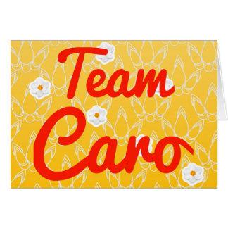 Team Caro Grußkarte