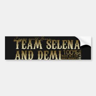 Team Demi und Selena Autoaufkleber