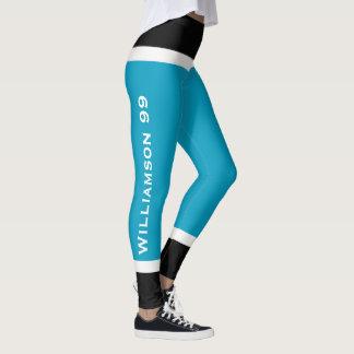 Team-Farbeis-Hockey-Socken-Blick-Gamaschen Leggings