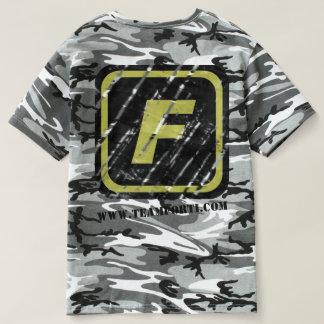 Team-FORTI verkratzter Logo-Camouflage-T - Shirt