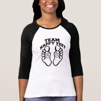 Team-glückliche Füße T-Shirt
