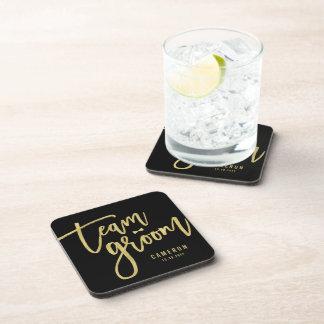 Team Groom Bow Tie Bachelor Party Wedding Custom Drink Untersetzer