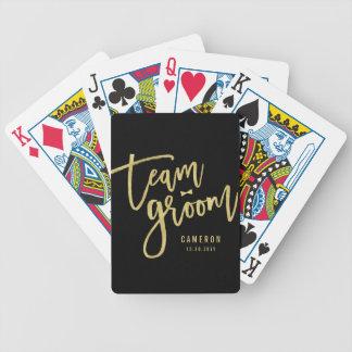 Team Groom Bow Tie Bachelor Party Wedding Custom Pokerkarten