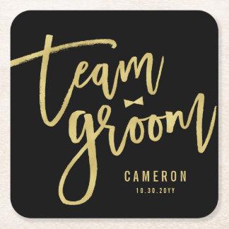 Team Groom Bow Tie Bachelor Party Wedding Custom Rechteckiger Pappuntersetzer